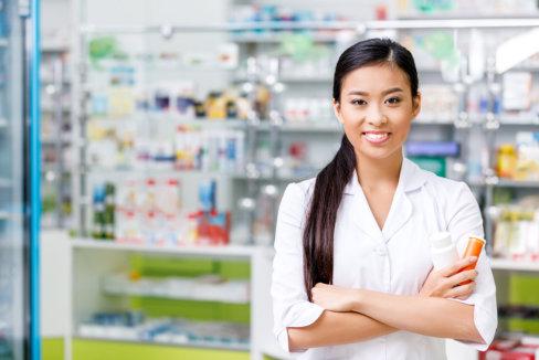 woman pharmacist smiling