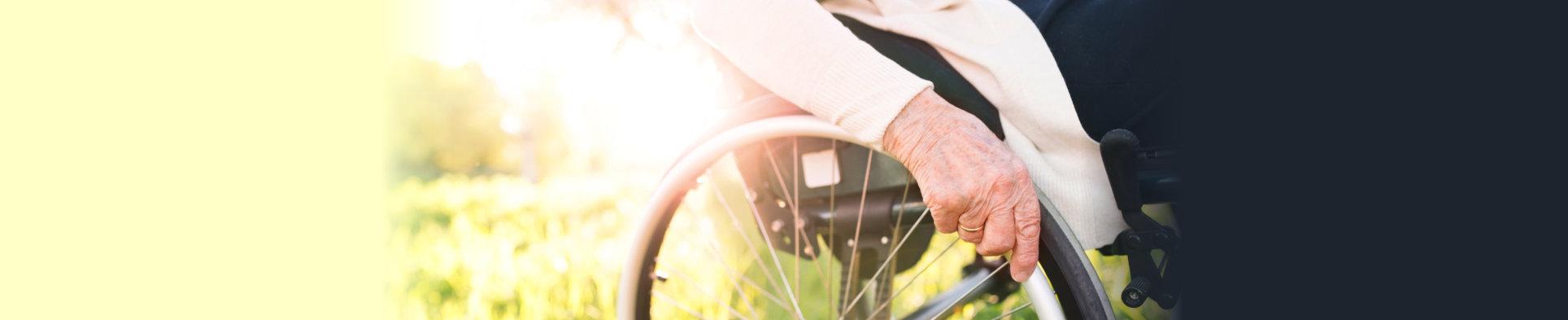 wheelchair outdoors